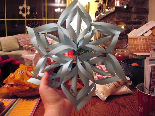 Jõulukaunistus 3D Lumehelves