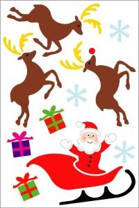 Jõuluvana ja põhjapõdrad