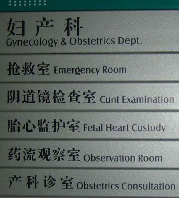 Cunt examination