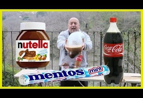 Maailmarekord Coca-Cola + Nutella + Mentos + Durex