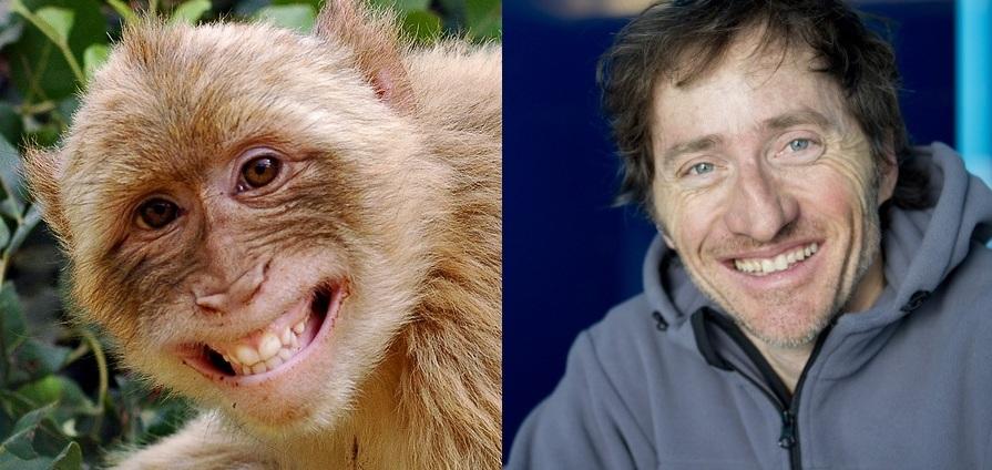 Naeratav ahvipärdik ja see mees