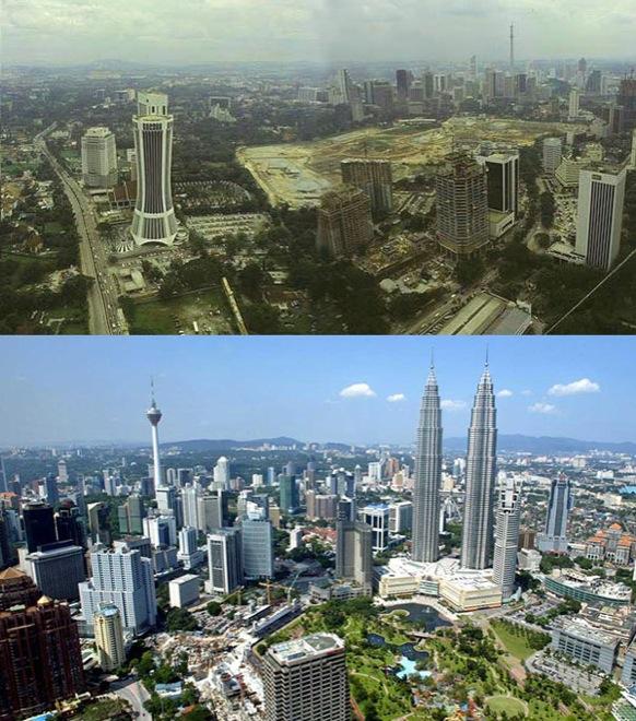 5. Kuala Lumpur, Malaysia, 1990-2014