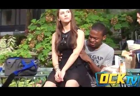 Tüngavideo: Tüdruk istub võõraste inimeste peale. Üllatavad reageeringud!