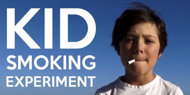 Sotsiaalne eksperiment: Suitsetav 9-aastane