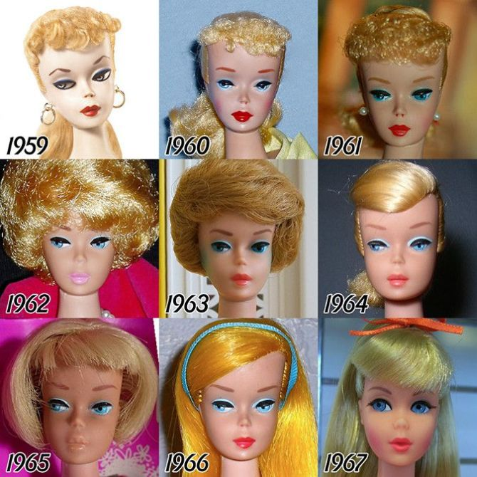 barbie evolutsioon 1